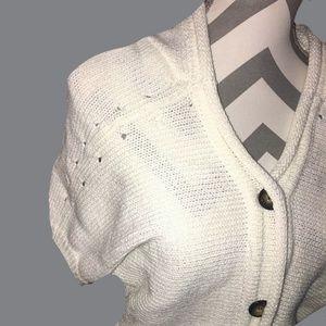 Trina Turk Short Sleeve Hooded Cardigan